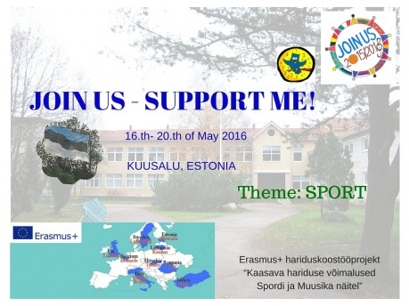 JOIN US SUPPORT ME